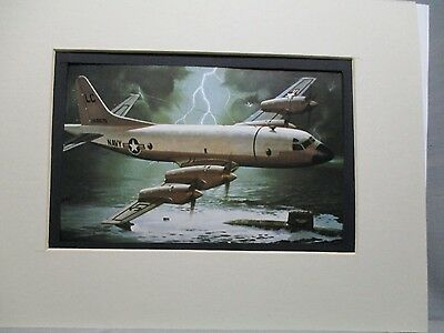 Lockheed P 3 Orion Revell Model Airplane Box Top Art Color  artist G2