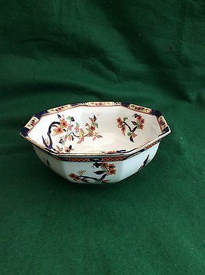 Staffordshire Losol Ware 'Mandarin' bowl (Keeling and Co)  8 inches