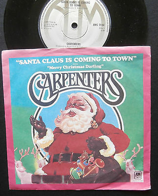 """Carpenters - Santa Claus Is Coming To Town/Merry Christmas Darling - 7"""""""