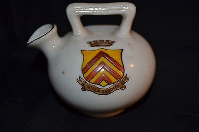 Vintage W H GOSS Crested China Model of Kettle Hastings