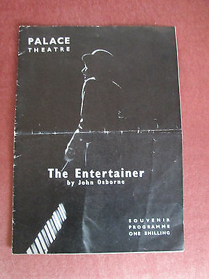"""London Palace Theatre Programme - 1957- """"the Entertainer"""""""
