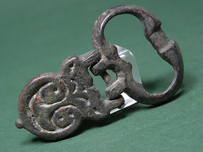 Ancient Bronze Buckle Byzantine 400-600 Ad