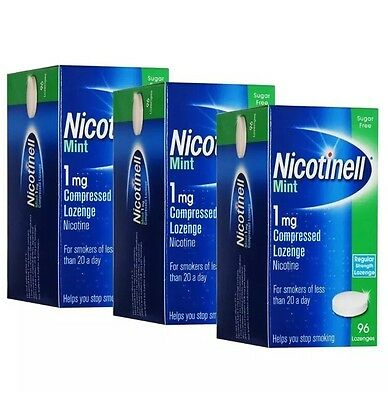 Nicotinell Lozenge Mint 1mg - 96 Lozenges - Pack of 3
