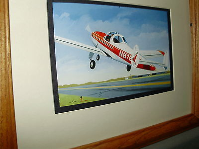 Ercoupe Civil Private Airplane Model Airplane Box Top Art Color by artist