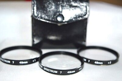 Promaster 49 mm Close-UP Lens Kit (+1, +2. +4) with Case Made Japan (S-63)