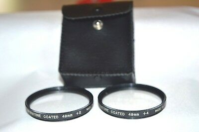 Spiratone 49 mm +2 and +4 Close-UP Screw-In Lenses with Case Made Japan (S-61)
