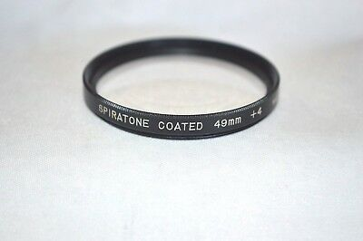 Spiratone 49 mm +4 Close-UP Screw-In Lens Made in Japan (S-59)