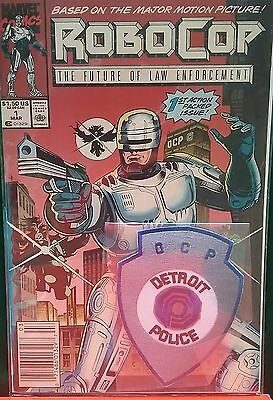 First Issue 1990 Robocop Comic Book With Movie Police Patch Included!