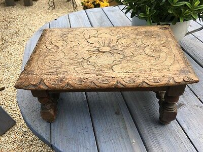 Vintage French Oblong Stool/ Side Table/ Plant Stand
