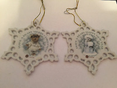 Boyds Bears & Friends Porcelain Ornaments - Christmas & New Years