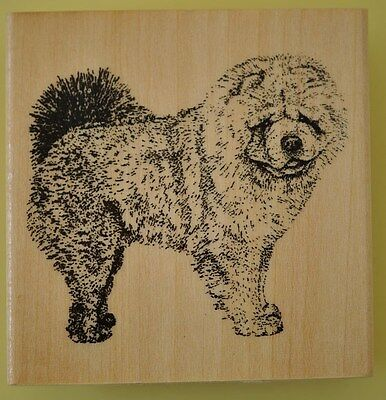 Chow Chow Dog  Rubber Stamp  Ballery Vintage