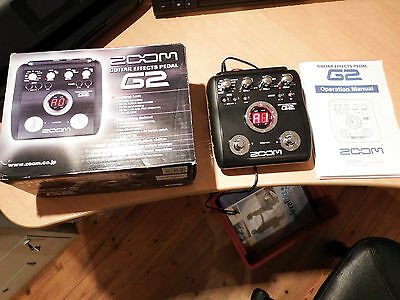 Zoom Guitar Effects Pedal G2 Mint Condition