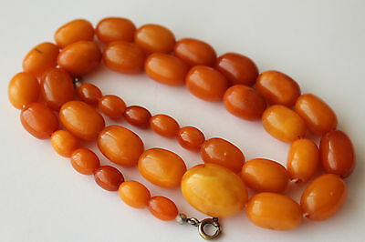 ANTIQUE AMBER NECKLACE, BUTTERSCOTCH EGG YOLK, RARE NATURAL BALTIC AMBER 老琥珀 30g