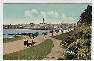 Co. Down: Bangor From The Marine Gardens - Green, Belfast PC Dated 1922 (166)