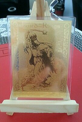 Rare 22Ct Gold Lord Of The Rings Danbury Mint Trading Card Witch King