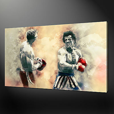 Rocky Iv  Drago Sylvester Stallone Canvas Print Picture Wall Art Free Delivery