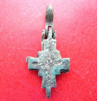 Ancient Bronze Cross Encolpion