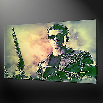 Terminator Arnold Schwarzenegger Wall Art Canvas Print Picture Variety Of Sizes
