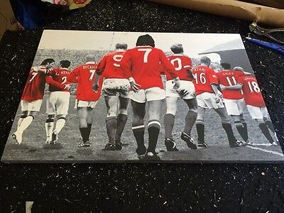 "Manchester United MUFC Icons Canvas Print (26""x18"")"