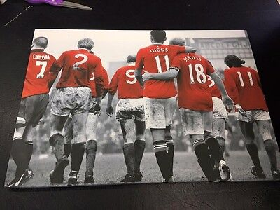 "Manchester United #MUFC Legends Canvas Print (26""x18"")"