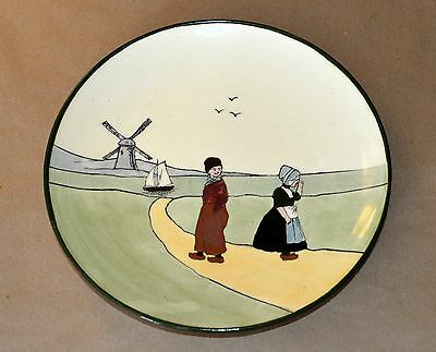 Vtg HAAG Adorable Flirting DUTCH Couple near WINDMILL Plate TRADITIONAL COSTUMES