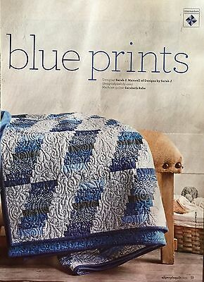 Quilt Pattern from Magazine/Book - Blue Prints
