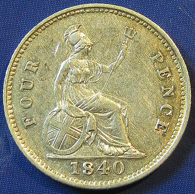 1840 4d Victoria silver Groat in an extremely high grade