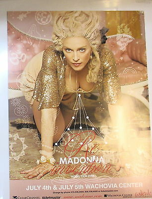 Madonna Concert Poster Wachovia Center Pennsylvania July 4 & 5, 2004 !
