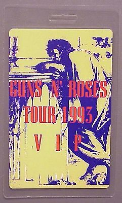 Guns n' Roses backstage pass Laminated Tour '93 VIP