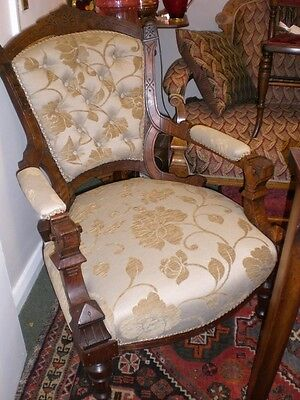 Lovely newly upholstered Edwardian chair