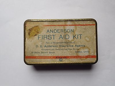 Vintage First Aid Kit From Anderson Insurance Xenia Ohio