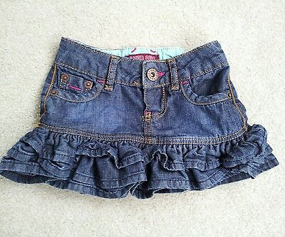 Girls Ted Baker blue denim skirt age 9 - 12 months lovely condition