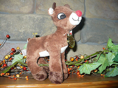 """"""" Rudolph The Red-Nosed Reindeer """"  Plush Wind - Up  Plays Music   7 """" X 7 """" NEW"""