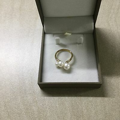 Pearl Ring In 9ct Yellow Gold Size O