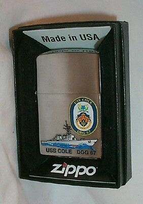 Navy ZIPPO  USS COLE  DDG 67 Lighter  US NAVY SHIP