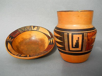 NAMPEYO! Vintage 2pc.-Combo HOPI SIKYATKI REVIVAL Pottery COLLECTION! SALE!
