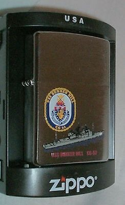 USS Bunker Hill Zippo LIGHTER CG 52 US Navy Ship MINT