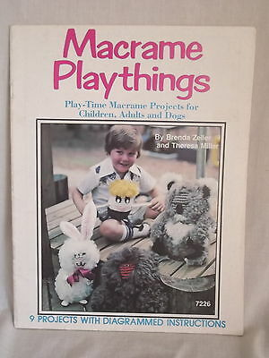 Macrame Playthings 9 projects for children adults and dogs  Zeller & Miller