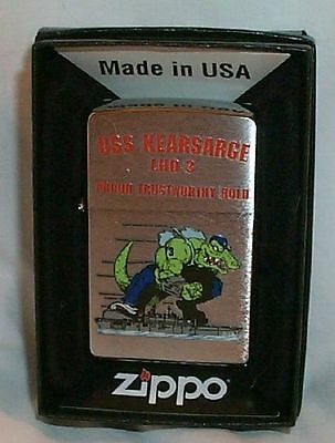 USS Kearsarge Zippo LIGHTER LHD 3 US Navy Ship MINT