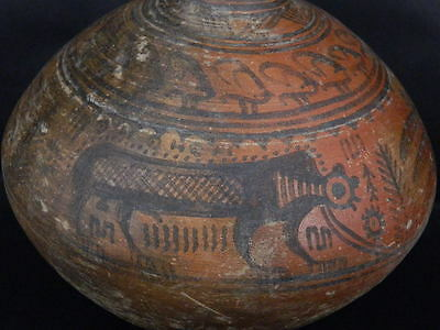 Ancient Huge Size Teracotta Painted Pot With Lions Indus Valley 2500 BC #PT15428