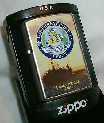 USS Shreveport ZIPPO SUNSET CRUISE LIGHTER 2007 LPD 12
