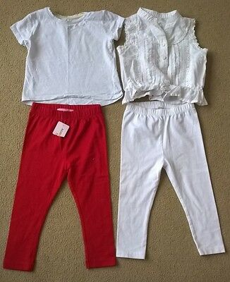 Bundle of baby girls clothes, 12-18 months, 4 items. some unworn.