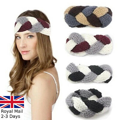 Women Ladies Winter Twist Crochet Knitted Wool Headband Hairband Earmuffs