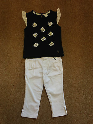 Girls Jasper Conran Top And White Jeans 3-4  Years