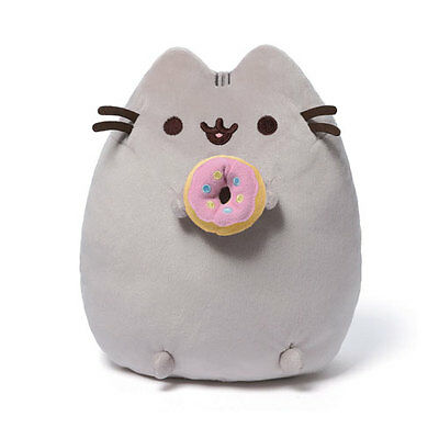"Pusheen The Cat With Donut 9.5"" Plush Licensed Gund"