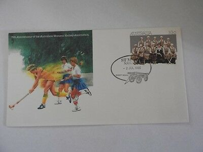 1985 75th Anniversary Australian Womens Hockey First Day Issue Cover