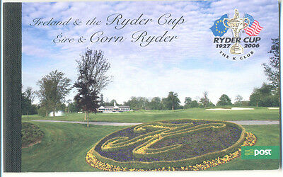 -Ireland-Ryder Cup-Golf Booklet mni mnh(SP4) 2005