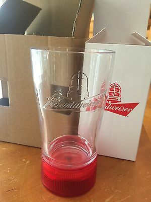 Budweiser Red Light Goal Synced Glass Limited Edition Any NHL Team