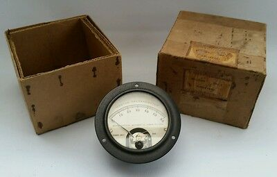 Vintage Bakelite Weston D.C Galvanometer Gauge Meter Steam Punk Boxed
