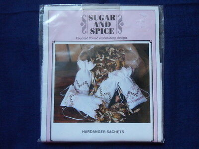 Sugar and Spice Hardanger sachets embroidery kit